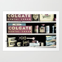 OLD-TIME PHARMACY Art Print