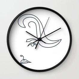 Jane Fonda - line drawing Wall Clock