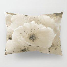 Cherry Blossoms Monochrome Pillow Sham