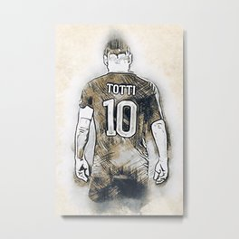 A Tribute to TOTTI Metal Print