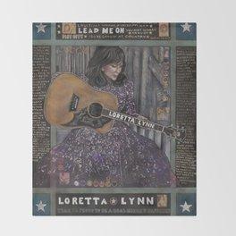 Loretta Lynn Throw Blanket