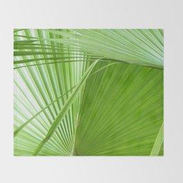 Palm Leaves // Tropical Wall Art, Beach Cottage Decor, Coastal Art Throw Blanket
