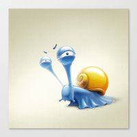 snail Canvas Prints featuring snail by Antracit