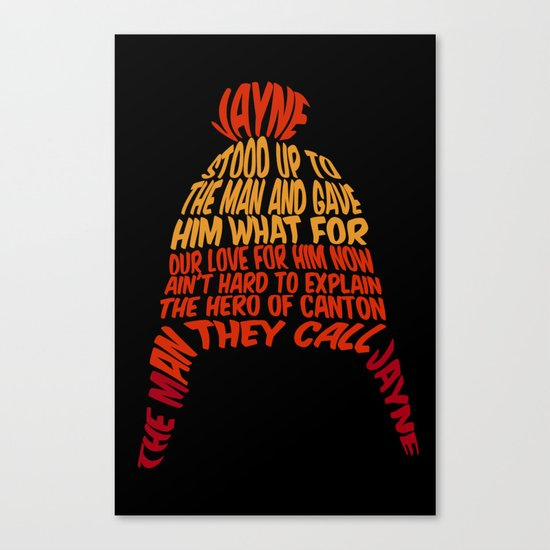 Jayne Hat Canvas Print