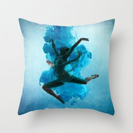 Ballet Dancer in Deep Sea. Throw Pillow