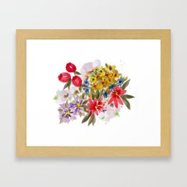 Farmers Market Bouquet 1 Framed Art Print