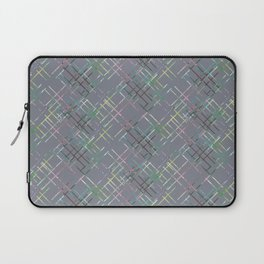 Gray checkered pattern. Laptop Sleeve