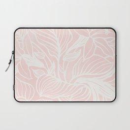 Pink Coral Floral Garden Laptop Sleeve
