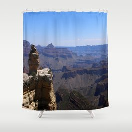 Duck On A Rock - A Scenic Grand Canyon View Shower Curtain