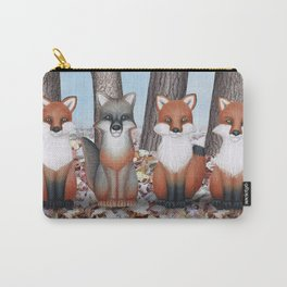 fox friends (with chickadees) Carry-All Pouch