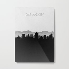 City Skylines: Salt lake City Metal Print