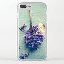 Sweet Violets Clear iPhone Case