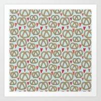Pattern Project #43 / Pretzel Love Art Print