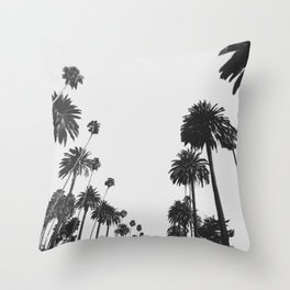 Palm Spring California, Palms Throw Pillow