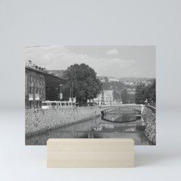 Sarajevo latin bridge Mini Art Print