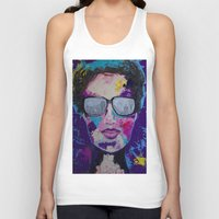 sunglasses Tank Tops featuring Sunglasses by Wendistry