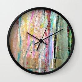Colorful Bohemian Abstract 1 Wall Clock