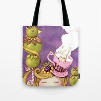 neverland Tote Bags featuring Neverland by Eunice Ng