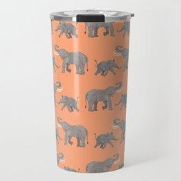 Cheerful Elephants Travel Mug