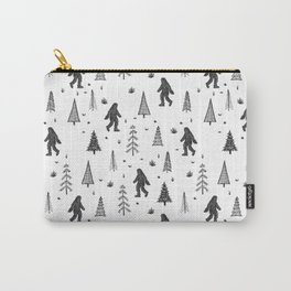 trees + yeti pattern Carry-All Pouch