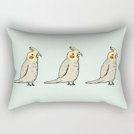 Happy Cockatiel Rectangular Pillow