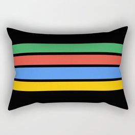 Team Colors....Green ,red, blue, yellow black Rectangular Pillow