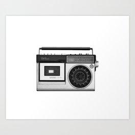 cassette recorder / audio player - 80s radio Art Print