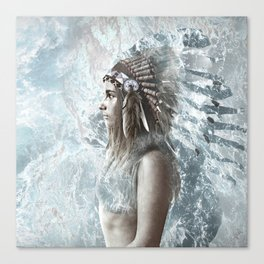 feather and the sea Canvas Print