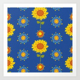 Sunflowers of Ukraine Art Print