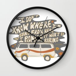 I don't know where I'm going Wall Clock