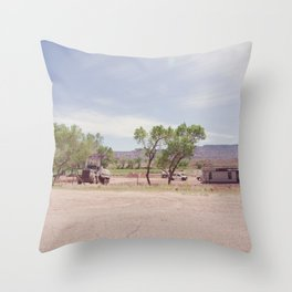 Truck and Helicopters Throw Pillow