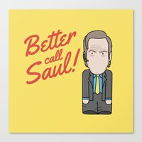 better call saul Canvas Prints featuring Better Call Saul by Big Purple Glasses