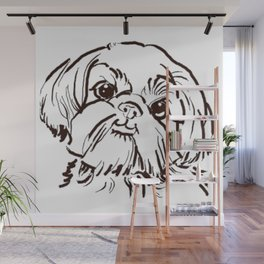 The sweet Shih Tzu dog love of my life! Wall Mural