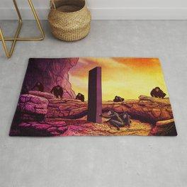 Ape Men meet Monolith - 2001 A Space Odyssey Rug