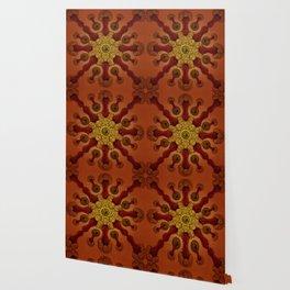 """Vintage Antique Starfish Haeckel Mandala"" Wallpaper"