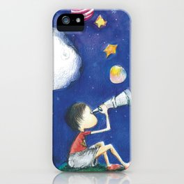 Stars and little planets iPhone Case