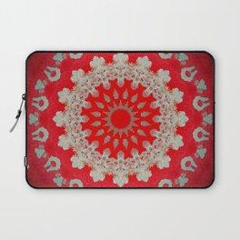 Bright Red Mandala Laptop Sleeve