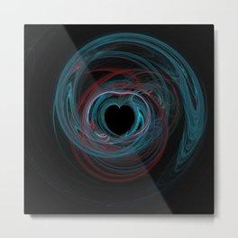 Valentine's Fractal IX - Dark Metal Print