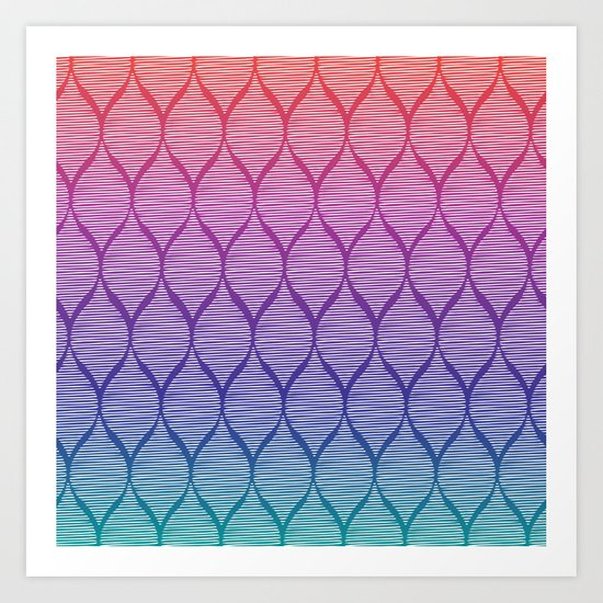 pattern fenced v4 Art Print