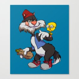 Sylvester & Tweety Bird Canvas Print