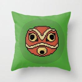 Pixel Princess Mononoke Mask Throw Pillow