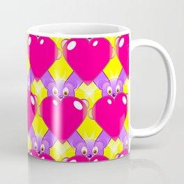Hot Pink Hearts and Teddy Bears Coffee Mug
