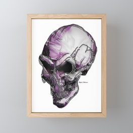 Skull art in purple Framed Mini Art Print