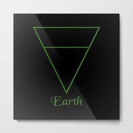 Earth Element Symbol Metal Print