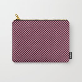 Houndstooth Black & Pink small Carry-All Pouch