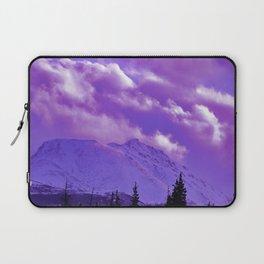 2493 Ultra_Violet Storm Over Flat_Top Laptop Sleeve