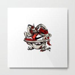 Air Jordan 1 Dragon Metal Print
