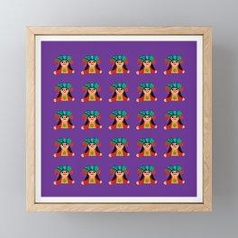 Fabric Mexican little dolls Framed Mini Art Print