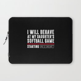 Behave At Youth Sports Youth Sports Laptop Sleeve