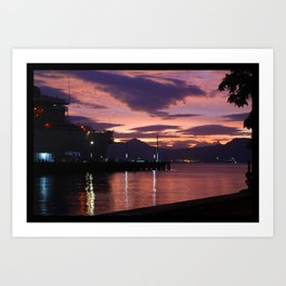 Olongapo Bay, Philippines Art Print
